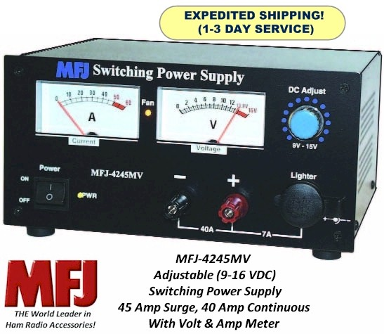 Power Most MFJ Devices With This MFJ 1312DX 230 VAC To 12 VDC At 500 MA