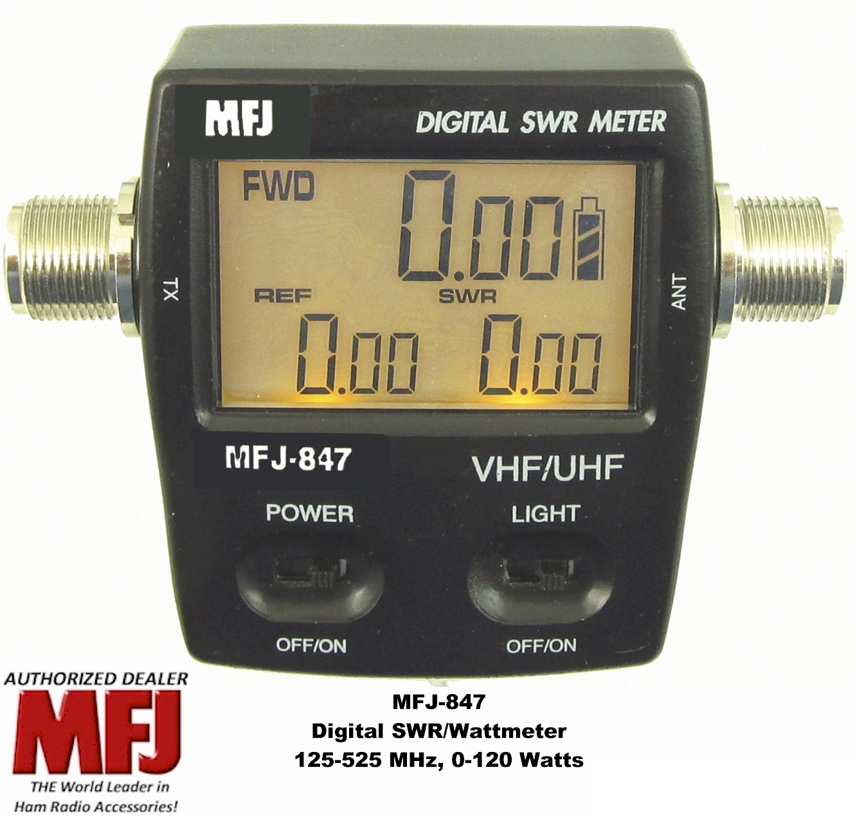 Digital Swr Meter : Mfj digital swr power wattmeter vhf uhf mhz
