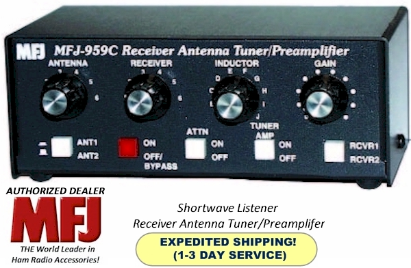 Details about MFJ-959C - Antenna Tuner, Shortwave Listener, With Preamp,  1 6 to 30 MHz